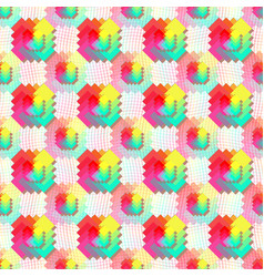 geometric seamless pattern in rainbow color vector image