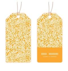 Golden lace roses vertical stripe frame pattern vector