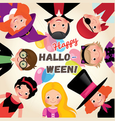 group of happy funny children in a festive vector image