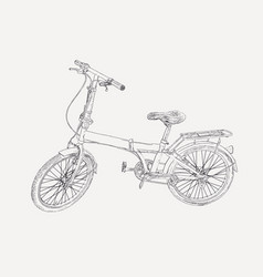 Hand drawn modern bike sketch vector