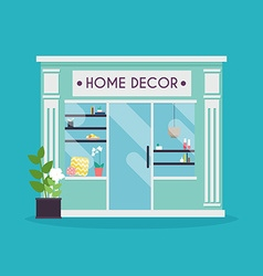 Home decor facade Decor shop Ideal for market vector image