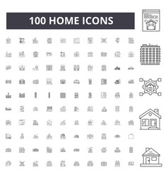 home line icons signs set outline vector image