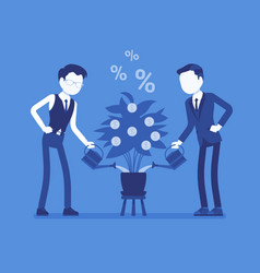 investment and profit grow vector image