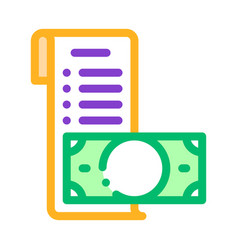 invoice check list and money dollar icon vector image
