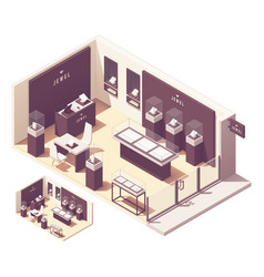 Isometric jewelry store vector