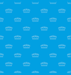 King crown pattern seamless blue vector