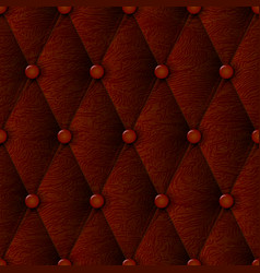 leather texture luxury brown seamless pattern vector image