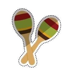 Maracas music instrument vector