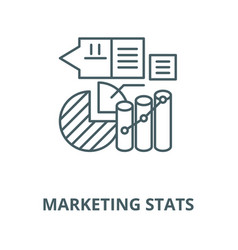 Marketing stats line icon linear concept vector