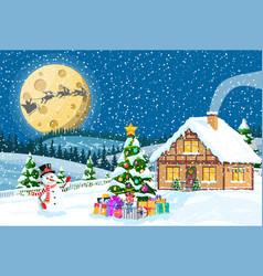 Merry christmas holiday xmas celebration vector