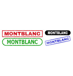 montblanc rectangle stamps using grunged texture vector image
