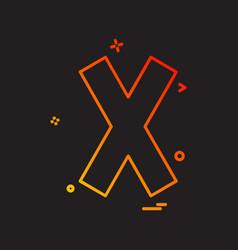 Multiply icon design vector