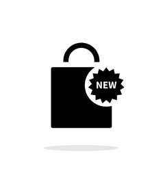 New shopping bag simple icon on white background vector image