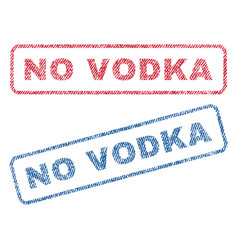 No vodka textile stamps vector