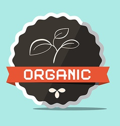 Organic Retro Label vector image