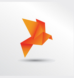 Origami eagle vector