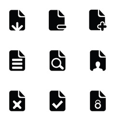 page icons set vector image