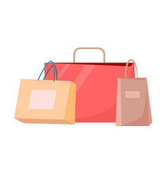 paper shopping bags disposable packages vector image