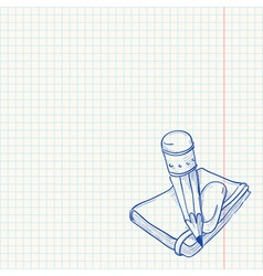 Pencil and Notebook vector image