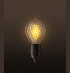 realistic lightbulb electricity design light lamp vector image
