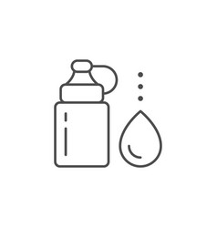 reusable water bottle line icon vector image