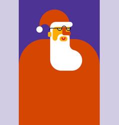 santa claus portrait beard and mustache christmas vector image