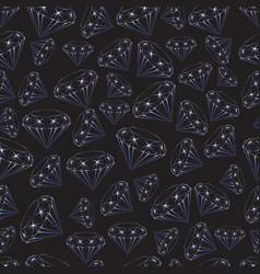 seamless pattern of sparkling blue gems vector image