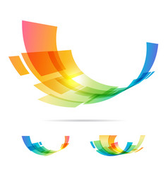 set tech abstraction elements vector image