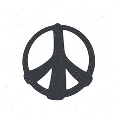 silhouette hippies symbol peace sign vector image