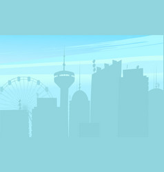 silhouette of city buildings vector image