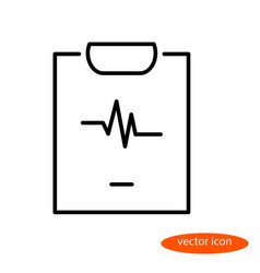 Simple linear image of a sheet with medical vector