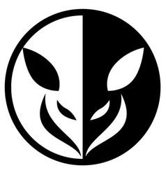 small animal circular logo vector image
