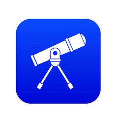 Space telescope icon digital blue vector
