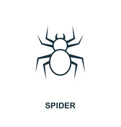Spider outline icon thin line style from vector