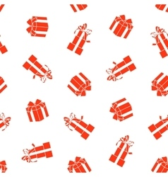 Stock seamless pattern with gift boxes vector image