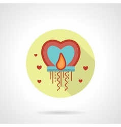 Valentines Day sky lantern icon flat style vector image
