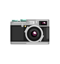 vintage photo slr camera on a vector image