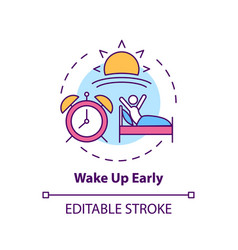 Wake up early concept icon vector