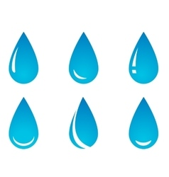 Water droplet set vector