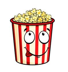 cartoon popcorn vector image