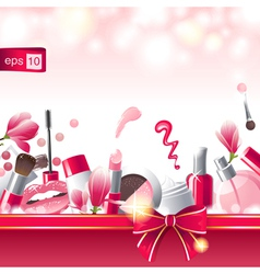 glamourous make-up background vector image