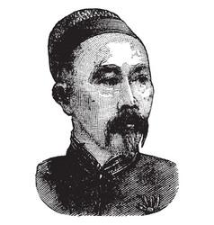 li hongzhang vintage vector image