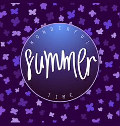 Summer season banner design vector