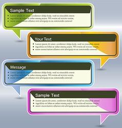 Abstract design Speech bubble vector image vector image