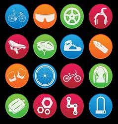 Bicycle Icon Set Gradient Style vector image