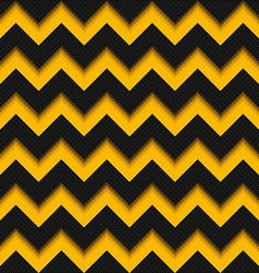 Black and yellow background 3D fiber zigzag vector image