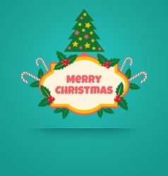christmas banner with tree vector image