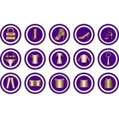 Clothes icon vector image vector image