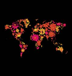 floral world vector image vector image