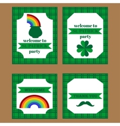 Printable set of saint patrick party elements vector image